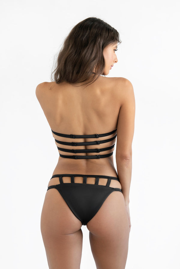 """Zoe"" Hipster Cage Bottom - Dolce Aqua Swimwear"