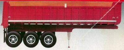 MPC 823 1/25 3 Axle Gravel Trailer
