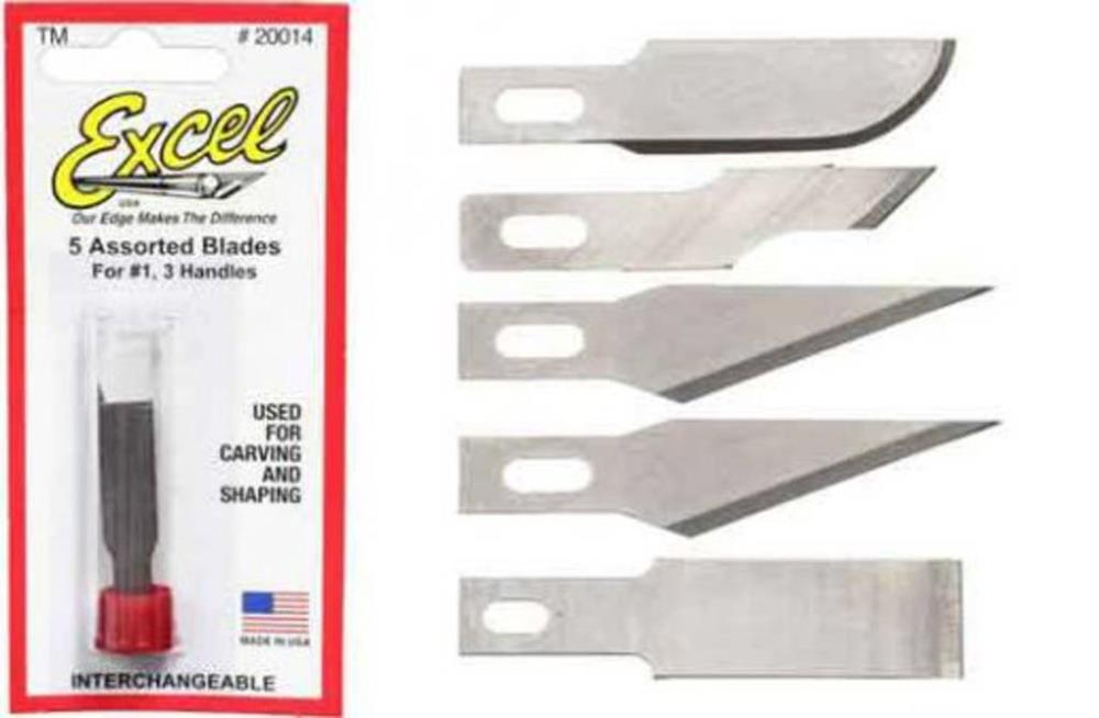 Excel Tools 20014 #1 Assorted Blades Pack 5