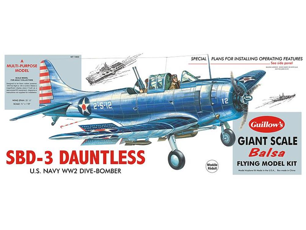 Guillows #1003 1/16 SBD-3 Dauntless - Balsa Flying Kit