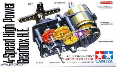 Tamiya 72007 GEAR BOX 4 SPEED HIGH POWER