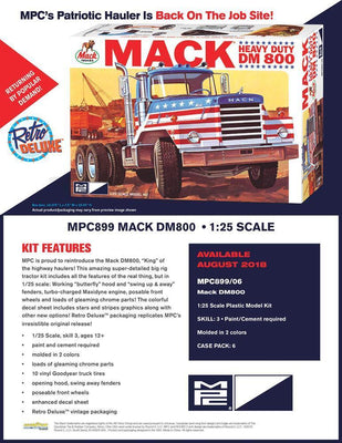 MPC 899 1/25 Mack DM800 Semi Tractor