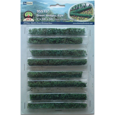 JTT Scenery 95515 Green Hedges, 5 x 3/8 x 5/8