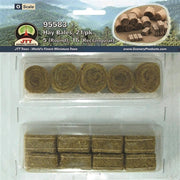 JTT Scenery 95583 1/48 O-Scale Hay Bales - 5 Round, 16 Rectangular
