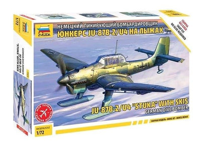 Zvezda 7323 1/72 Junkers Ju 87 B-2/U4 Stuka with Skis - German Dive Bomber