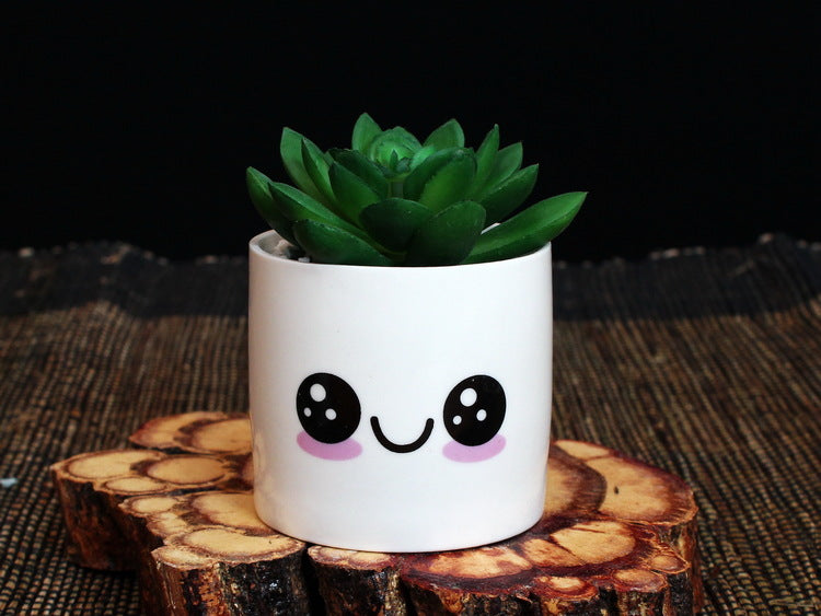 Mini Porcelain Flower Pot