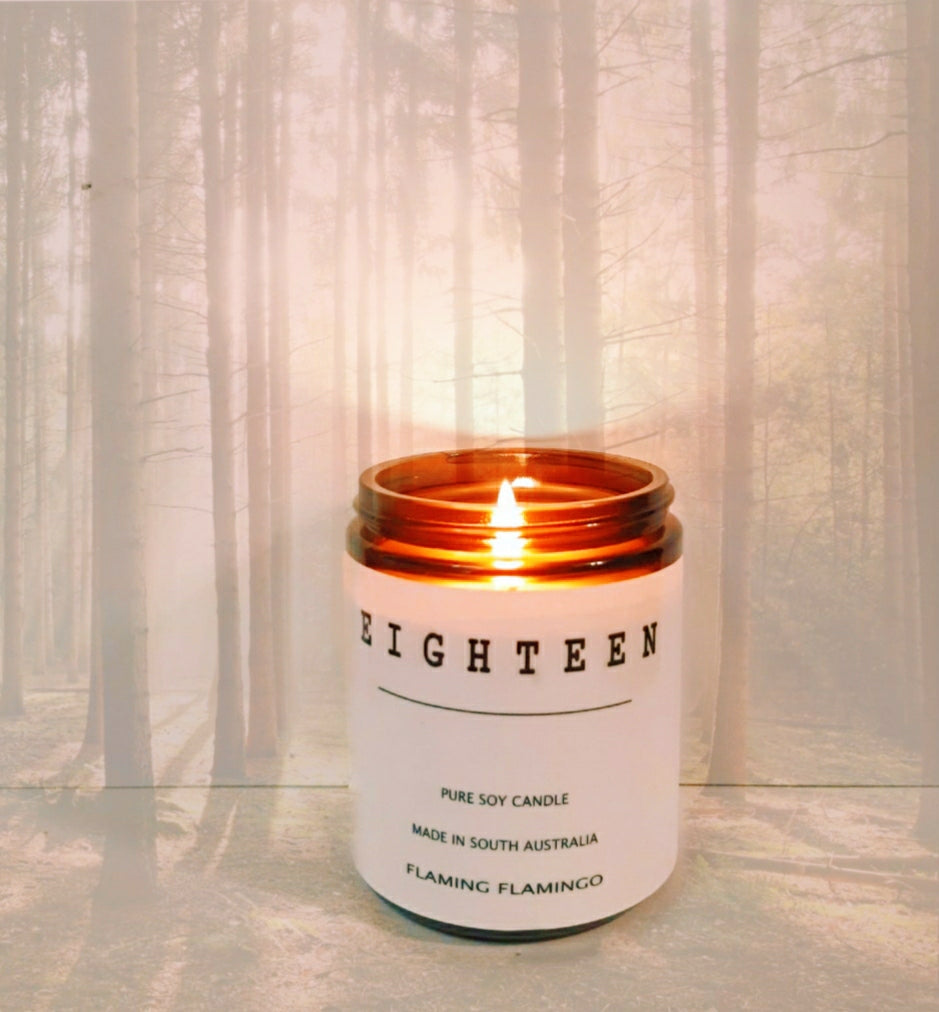 EIGHTEEN SOY CANDLE - our homage to santal 33