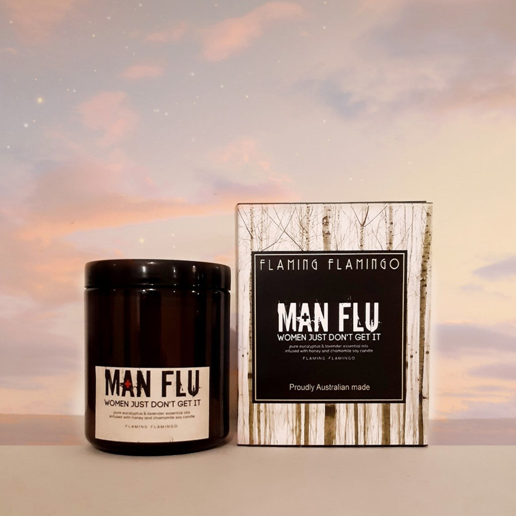 MAN FLU soy candle - eucalyptus and lavender essential oils