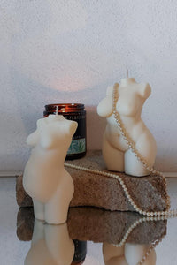 Miss Curvalicious body candle - flaming flamingo