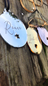 Individually Personalised Baubles