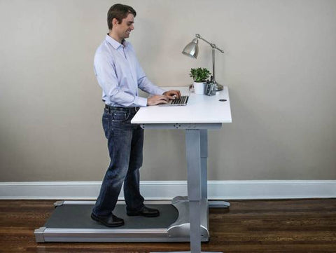man at treadmill desk