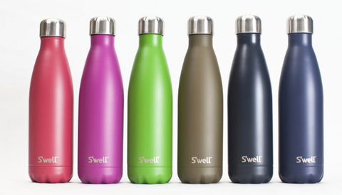 water bottles in assorted colors