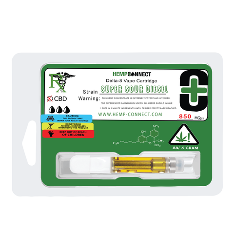 Delta 8 THC Vape Cartridge - Super Sour Desiel (4474950418547)