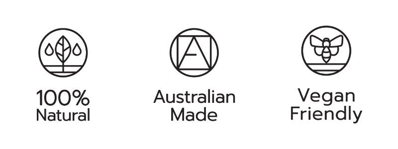 100% Natural - Australian Made - Vegan Friendly