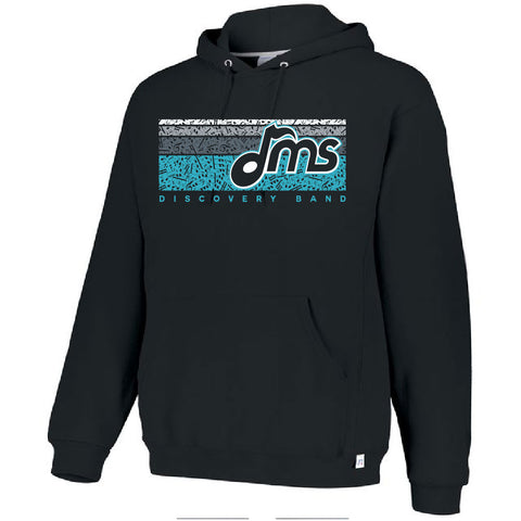 DMS Band Hoodie- Heavy Weight Russell brand - Music Bars design - $30