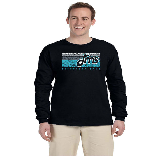 Band Long Sleeve Cotton - Music Bars design - $18