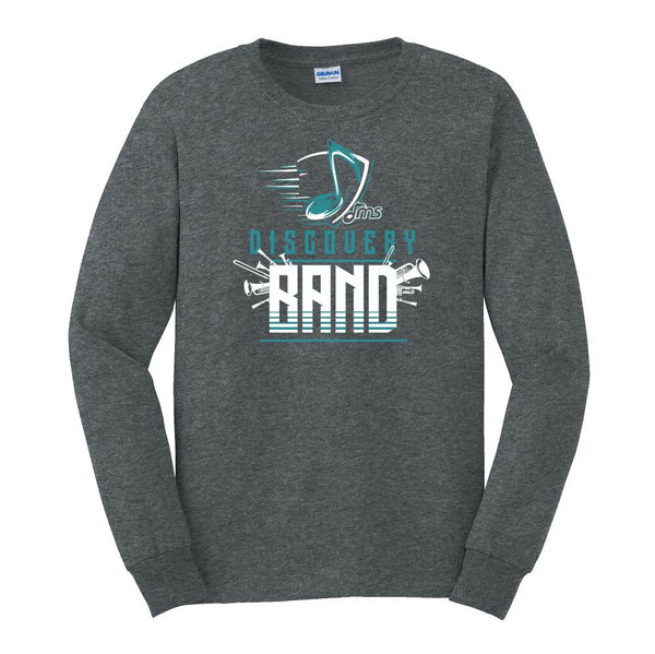 Band Long Sleeve Cotton - Music Note design - $18