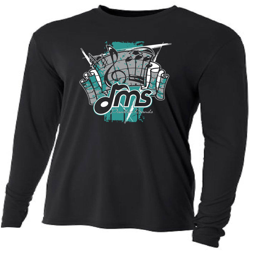 DMS Band Long Sleeve Poly - Fanfare design - $20