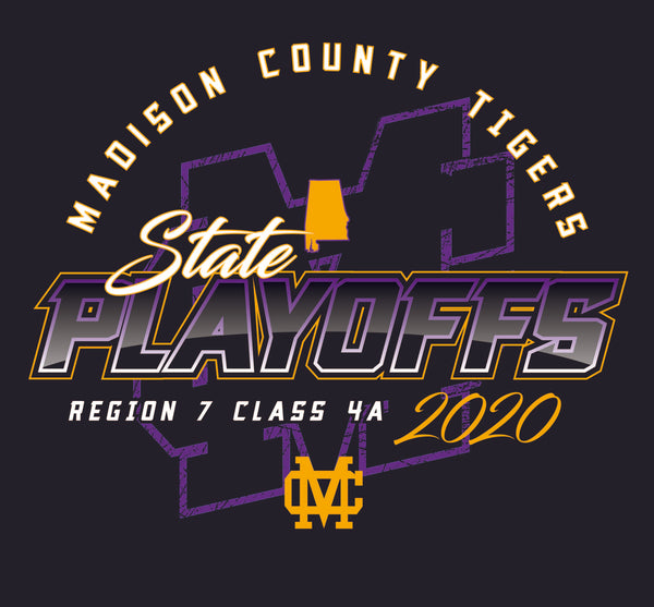 MCHS Football Playoff - SHORT Sleeve - COMFORT COLOR - $18