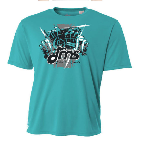 DMS Band Short Sleeve Poly - Fanfare design - $17