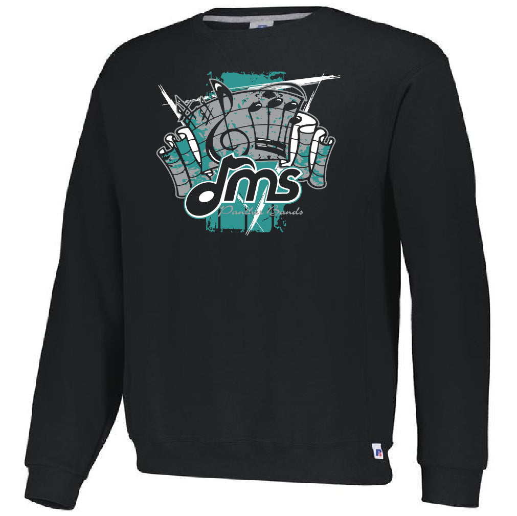 DMS Band Crewneck Sweatshirt- Heavy Weight Russell brand - FanFare design - $25