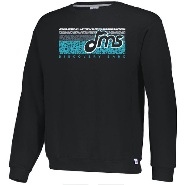 DMS Band Crewneck Sweatshirt- Heavy Weight Russell brand - Music Bars design - $25