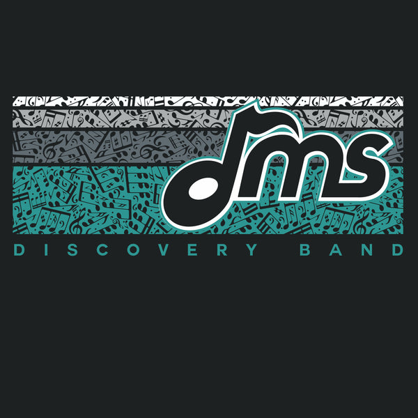 DMS Band Short Sleeve Poly - Music Bars design - $17