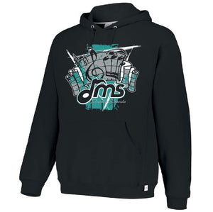 DMS Band Hoodie- Heavy Weight Russell brand - Fanfare design - $30
