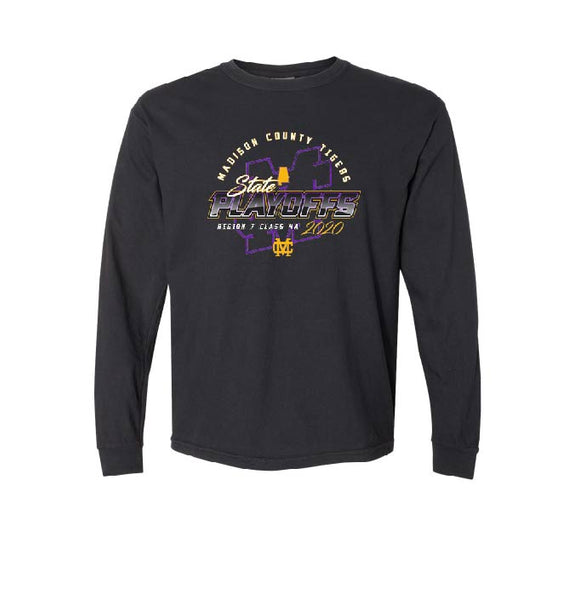 MCHS Football Playoff - LONG Sleeve - COMFORT COLOR- $23