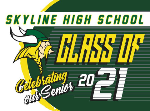 Skyline Yard Sign - Celebrating our Senior