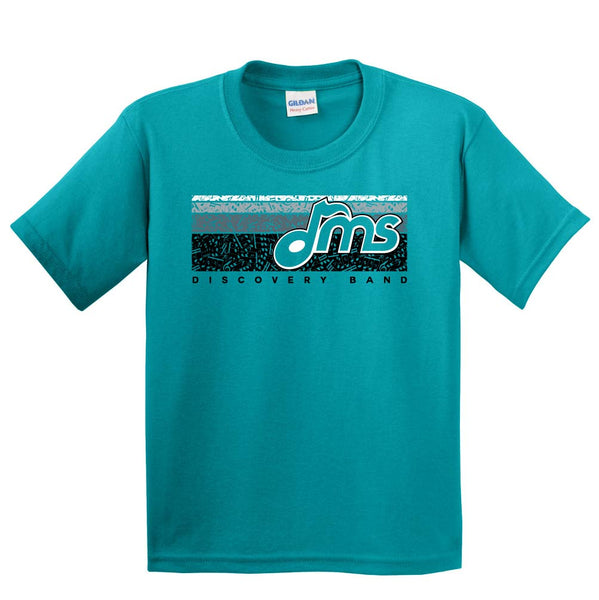 DMS Band Short Sleeve Cotton - Music Bars design - $15