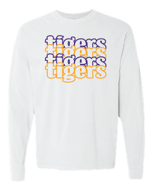 TIGERS - Long Sleeve Hanes