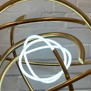 White Neon Gold Orb