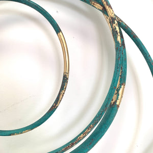 Verdigris and Gold Spiral