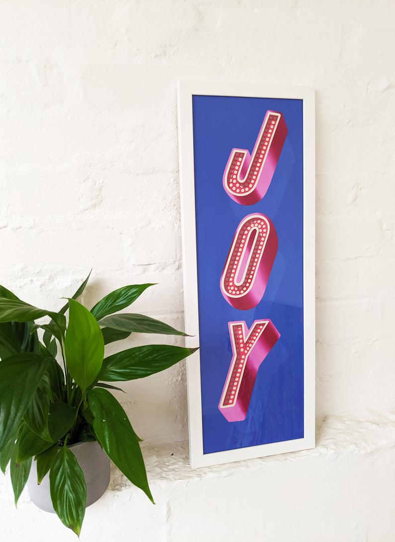 Joy - Typography Artwork