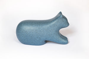 Ty Shee Zen - Repose-pieds chat - Tabouret physiologique - Bleu granite