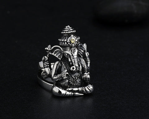Image of Sterling Silver Ganesha Ring