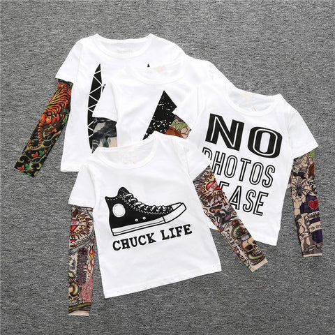 "No Photos Please - Children's Tattoo ""Sleeve"" Tee"