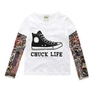 "Chuck Life - Children's Tattoo ""Sleeve"" Tee"