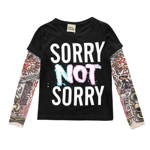 "Sorry Not Sorry - Children's Tattoo ""Sleeve"" Tee"