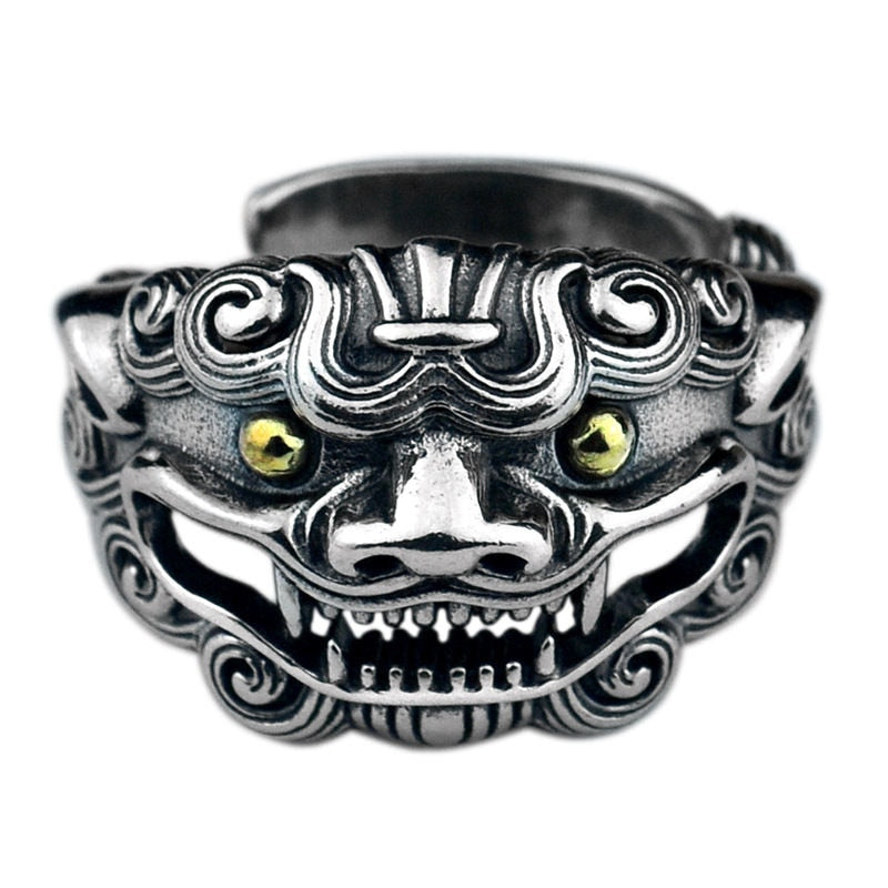 Sterling Silver Ancient Animal Ring