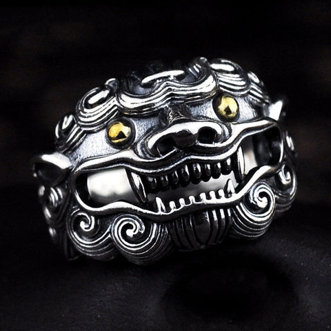 Image of Sterling Silver Ancient Animal Ring
