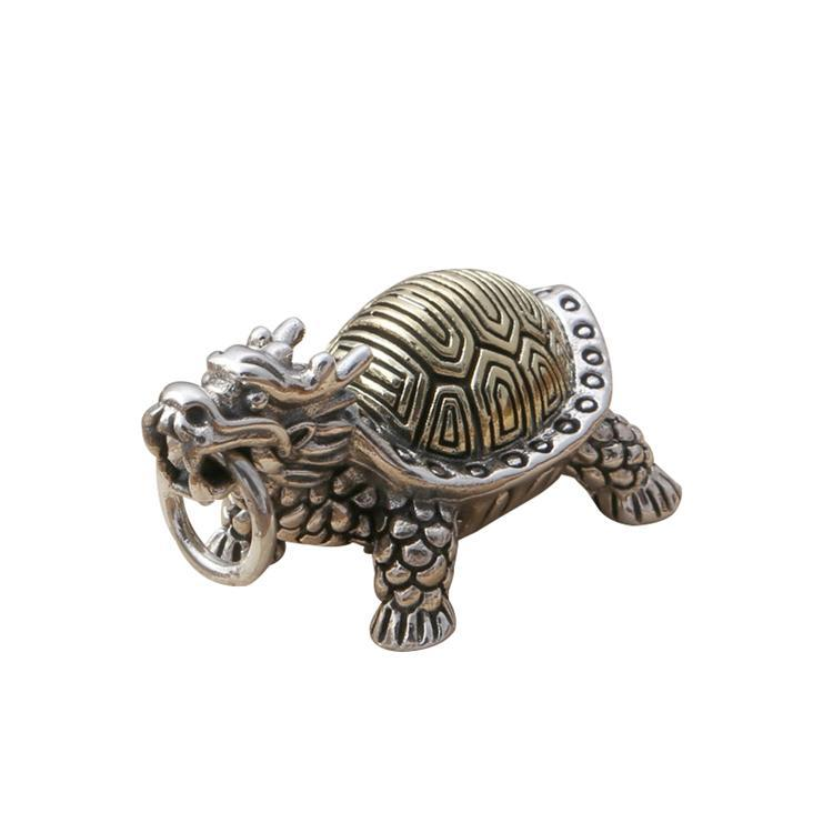Sterling Silver Dragon Turtle Pendant