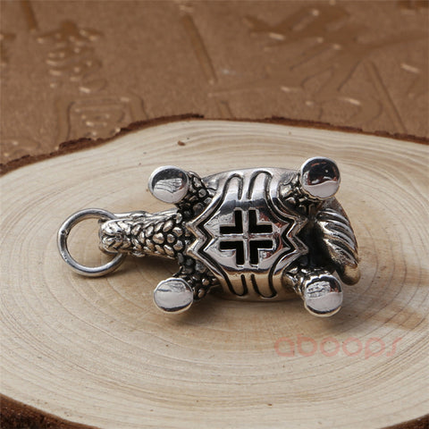 Image of Sterling Silver Dragon Turtle Pendant