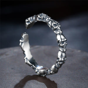 Sterling Silver Stackable Skull Rings