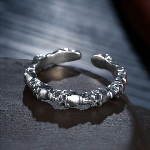 Image of Sterling Silver Stackable Skull Rings