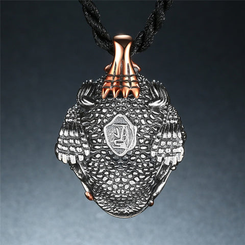 Image of Sterling Silver Thai Toad Pendant