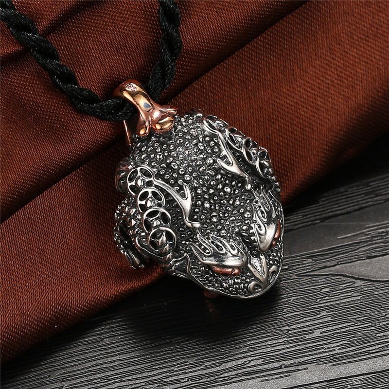 Sterling Silver Thai Toad Pendant