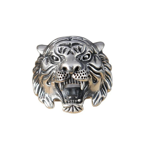Image of Sterling Silver Tiger Head Ring
