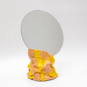 Large Mirror Salmon & Yellow Pattern Glossy Finish-50m London